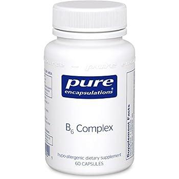 Pure Encapsulations - B6 Complex - Hypoallergenic B Vitamin Formula with Enhanced B6 - 60 Capsules