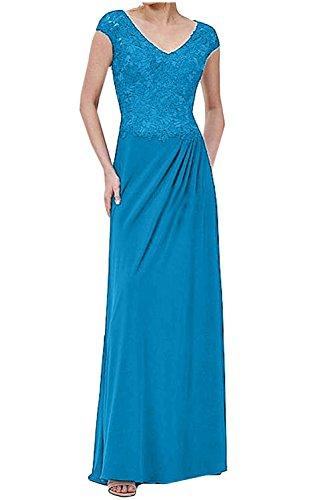 Spitze Ballkleider Festlichkleider Etuikleider Abendkleider Brautmutterkleider Damen Blau Langes Charmant YXnR4Egx