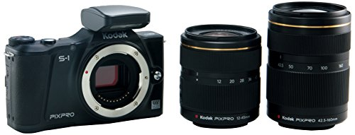 Kodak PIXPRO S-1 Compact System Digital Camera with 12-45mm Lens, 42.5-160mm Lens and 3