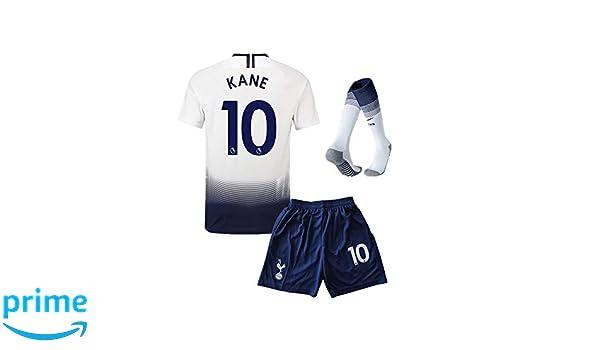 32d6ee6e2 Amazon.com  Mercrury Spfoets Tottenham Hotspur 2018 2019 Season  10 Kane  Youths Kids Home Soccer Jersey   Shorts   Socks White  Clothing