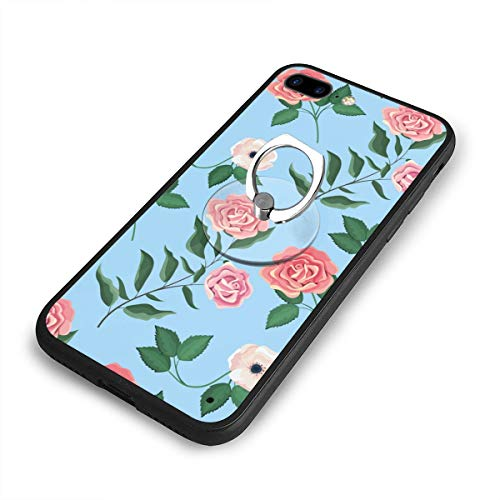 Metal Wild Pedestal Rose (Exotic Wildflowers and Roses Case and Mobile Phone Stand Iphone8 Plus,iphone7 Plus Case,Iphone8 Plus Case,Shock-Absorption & Skid-Proof Anti-Scratch Case for Apple Iphone7 Plus/8 Plus)