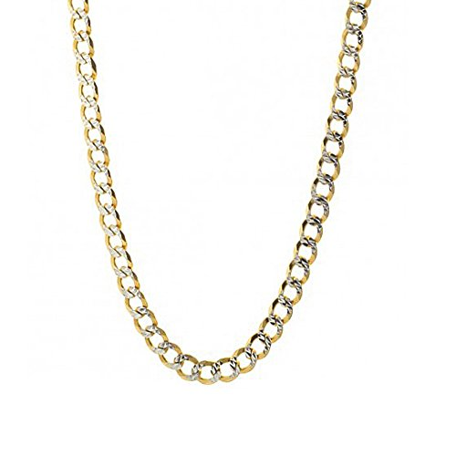 14kt Gold Pave Curb Chain (14k Yellow Gold with White Pave Curb Lite 2.5mm)