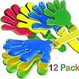 Plastic Hand Clappers 7.5 inch Noise Maker Toy Novelty Wholesale Bulk Lot (Pack of 12) - iGifts Inc.