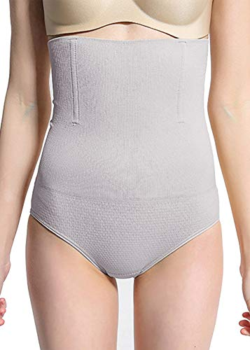 Firm Panties - Women High Waist Shaper Panties Firm Tummy Control High-Waisted Shapewear Shaping Ultra-Thin Underwear Body Shaper (Gray, M/L)