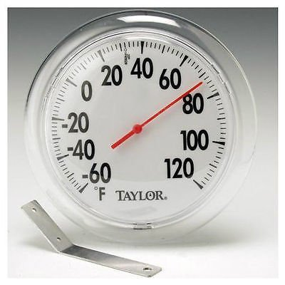 Taylor 5630 6 in Round Dial Indoor / Outdoor Thermometer w/ Mounting Bracket (Outdoor Thermometer Round)