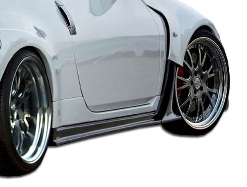Duraflex ED-ZUZ-038 AM-S Wide Body Side Skirts Rocker Panels - 2 Piece Body Kit - Compatible For Nissan 350Z 2003-2008