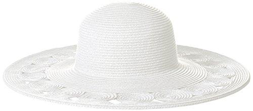 San Diego Hat Company Women's Sun Brim Hat With Open Weave Brim Edge, White, One Size - Edge Sun Hat