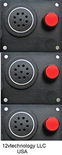 12vtechnology Automotive Battery Discharge Low Voltage Alert Detector Level Alarm 12 Volt Monitor w/Mute Button #BA8
