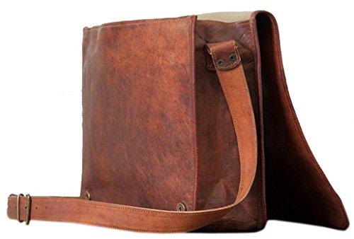 PhoenixCraft Leather Full Flap Messenger Handmade Bag Laptop Bag Satchel Bag