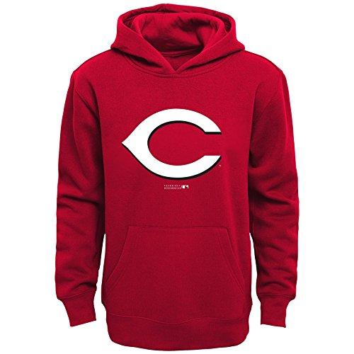 Outerstuff MLB Cincinnati Reds Boys Primary Logo Fleece Hoodie, Athletic Red, Size 14/16 - Fleece Cincinnati Reds Pullover