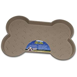 Loving Pets Bella Spill-Proof Pet Mat for Dogs, Small, Tan