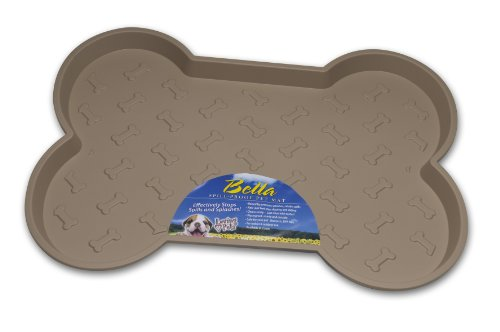 Dog Bowl Bella Bowl (Loving Pets Bella Spill-Proof Pet Mat for Dogs, Small, Tan)