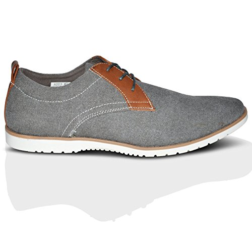 basso uomo Xelay Grey A collo Toe Pointed F4xqaZw