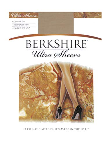 (Berkshire Women's Ultra Sheer Control Top Pantyhose - Reinforced Toe, Tan De Sol, 1)