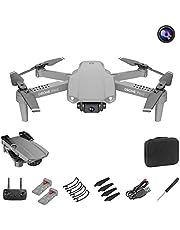 Mini-drone met camera Live video, WiFi FPV met 4K-camera Opvouwbare drone voor beginners, groothoeklivevideo RC-quadcopter met hooghoud, één toets opstijgen/landen