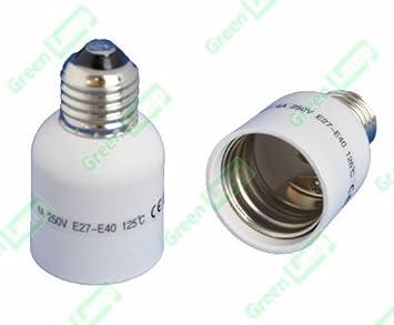 E27 Zu E40 Lampe Fassung Sockel Konverter Adapter Edison Schraube