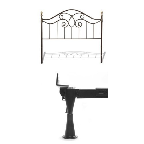 Dynasty Headboard with frame, Autumn Brown Finish, Full -