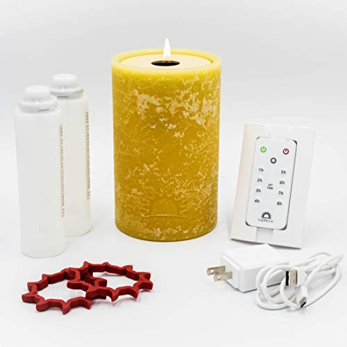LuDela Remote Control Real-Flame Candle Starter Set | Smart...