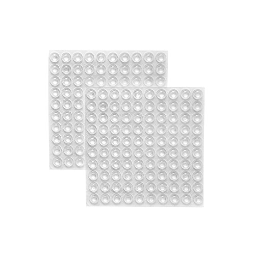 (ROCHU Self-Adhesive Clear Rubber Feet Tiny Bumpons for Furniture Table Laptop 200 PCS)