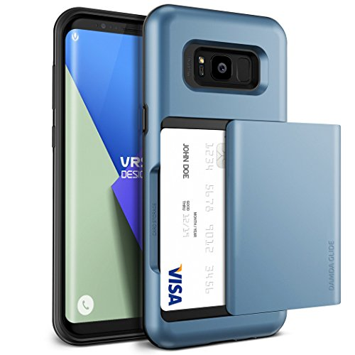 - Galaxy S8 Case, VRS Design [Damda Glide Series] Semi Automatic Card Slot with Military Grade Protection for Samsung Galaxy S8 - Blue Coral