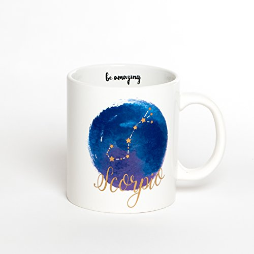 Scorpio Mug - Jumbo 22Oz Zodiac Mug Astrology Decor Constellation Mug For All Horoscopes Signs. Coffee Mugs For Women, Perfect Horoscope Gifts Mug With Quotes. Bpa Free Porcelain Mug By Ankit (Zodiac Mug Scorpio)