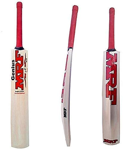 Goldiluxe Virat Kohli Willow Cricket Bat with Tennis Cricket Ball (Combo) Size-5 for Boys Above 8+ Years