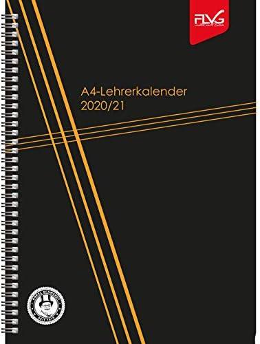 A4 Lehrerkalender FLVG Verlag 2020/2021 Lehrer Kalender A4 Sonderedition schwarz