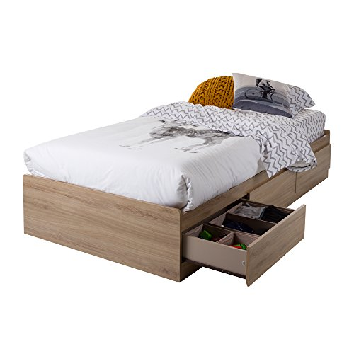 South Shore 10591 Twin Mates Bed with 3 Drawers, Rustic ()