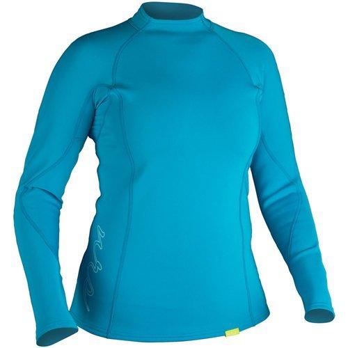 NRS HydroSkin 0.5 LS Shirt - Women's Azure Blue XS by NRS