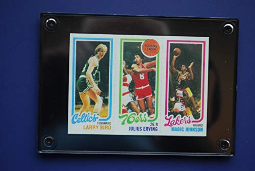 Larry Bird, Magic Johnson 1980 Topps Rookie Reprint Card (In a 1/4