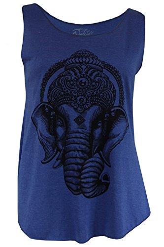 Origin Siam - Camiseta sin mangas - para mujer azul real