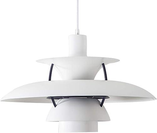 Samzim Pendant Light, Denmark Design Charlottenborg Hanging Light Fixture, Mid Century White-02