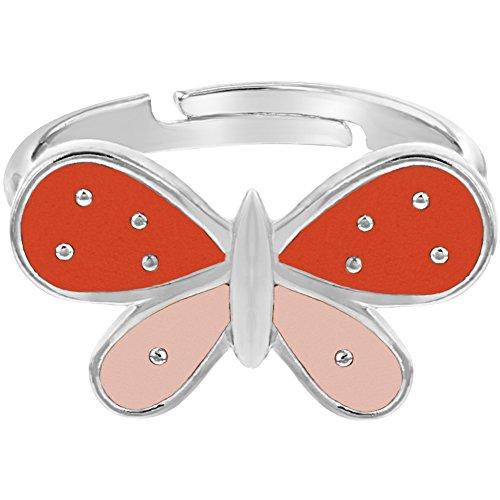 Enamel Butterfly Ring - 1