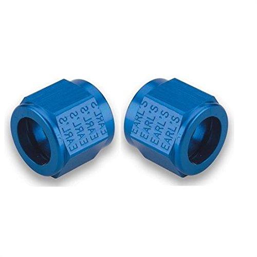 Earl's 581806 Blue Anodized Aluminum -6AN Tube Nut - Set of 2 ()