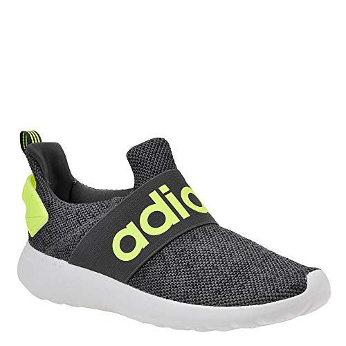 adidas Unisex LITE Racer Adapt K Sneaker, Grey Six/Yellow/core Black, 2.5 M US Little Kid