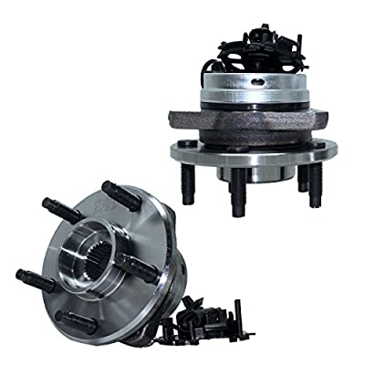 Detroit Axle - Pair Front Wheel Hub and Bearing Assembly w/ABS for - 06-12 Chevy Malibu w/ABS - [05-10 Pontiac G6 w/ABS] - 07-09 Aura - 08-10 Cobalt SS/HHR SS ONLY