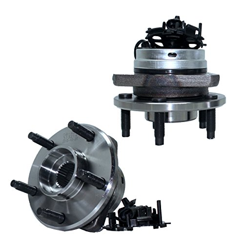 Pontiac G6 Wheel Hub - Detroit Axle - Pair Front Wheel Hub and Bearing Assembly w/ABS for - 06-12 Chevy Malibu w/ABS - [05-10 Pontiac G6 w/ABS] - 07-09 Aura - 08-10 Cobalt SS/HHR SS ONLY