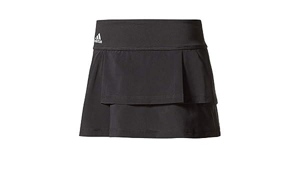862c3b60b0 Women adidas-Women`s Advantage Layered Tennis Skirt Black- 191021898636