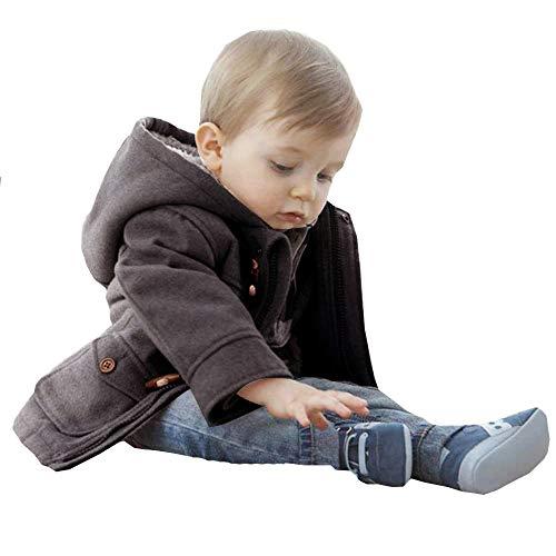 Woaills-Tops 2018 New!!Children Warm Winter Hooded Kid Outwear,Baby Boys Button Zipper Coats Jacket (5-6T, Gray)