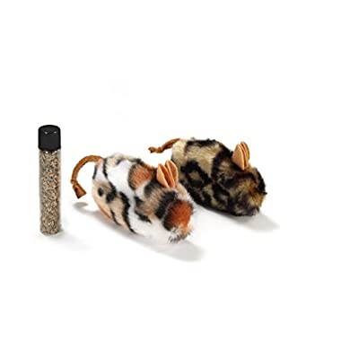 Petlinks Mouse Full Cat Toy Refillable Catnip Toys, 2 Pack