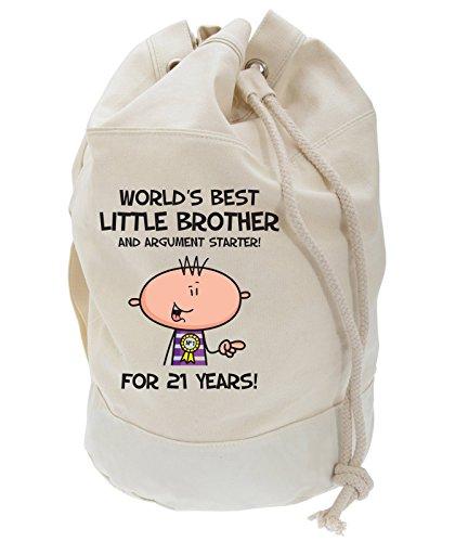 Worlds Best Little Hermano Hombre 21 Regalo Cumpleaños Bolso Mochila