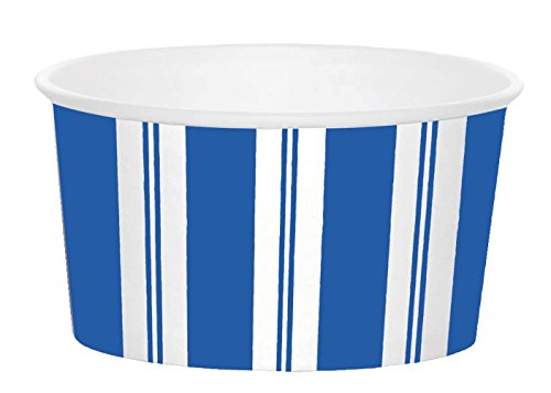 Awning Blue Paper (Entertaining with Caspari Awning Stripe Treat Cups, Blue and White, (8 Pack))