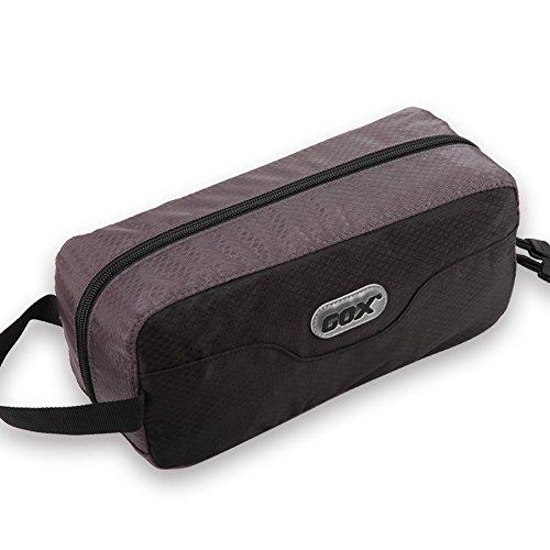 GOX Premium Toiletry Bag, Dopp Kit Case For Travel, Multifunction Cosmetics Organizer Pouch (Black/Grey)