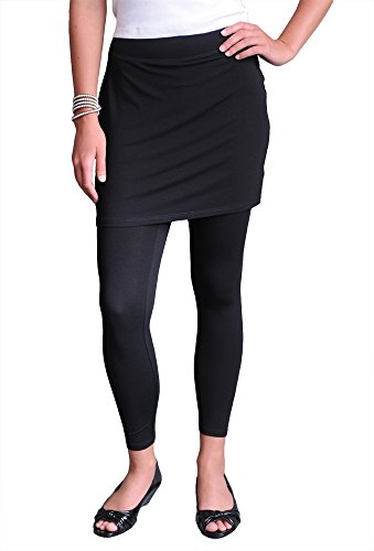 Eileen Fisher Women's Skirted Ankle Legging in Viscose Jersey XL Black (Eileen Fisher Pants Black compare prices)