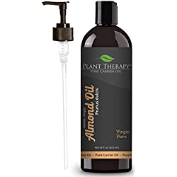Plant Therapy Sweet Almond Carrier Oil + PUMP. A Base Oil for Aromatherapy, Essential Oil or Massage Use. 16 oz.