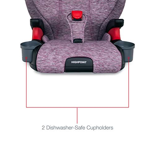 41u4HSJBdYL - Britax Highpoint 2-Stage Belt-Positioning Booster Car Seat - Highback And Backless | 3 Layer Impact Protection - 40 To 120 Pounds, Mulberry