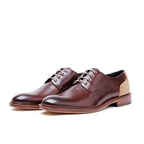 43 Alto Size Hombres Brown Casuales Zapatos Oxford Con Zhuxin Los Grado Cordones eu Cuero color De Negocios Brown nqZWzndT8Y