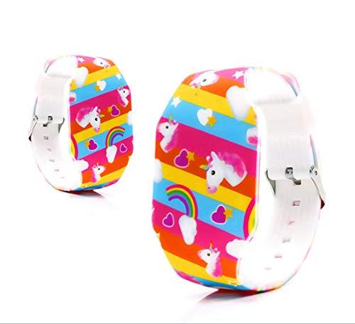 MINILUJIA Kid Girls Digital Watch Cute Cartoon Design Unicorn - Sweet Heart-Shaped Dial Led Waterproof Watch Comfortable Strap (Unicorn Noctilucent)