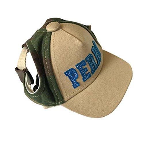 YJYdada Dog Hat, Summer Pet Dog Cute Alphabet Cap Baseball Hat Small Dog Outdoor Hat (S, Camouflage)