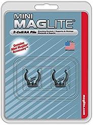 MAGLITE AM2A496 Mounting Brackets for AA Mini (Black)